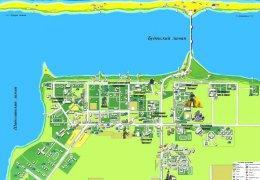 Карта пгт Сергеевка