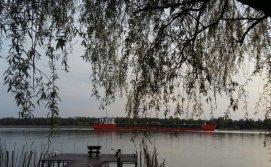 Вид с бунгало на реку Дунай