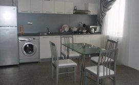 Кухня студиястоловая и кухонная зоны.